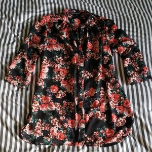 Modcloth floral button-up